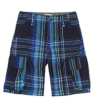 Levi's® Boys' 2T-20 Blue Plaid Cargo Shorts