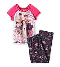 One Direction Girls' 4-14 Pink/Black 2-pc. 1D Stars Pajama Set