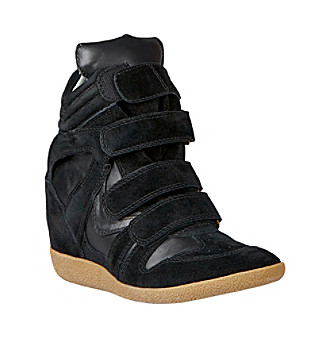 "Steve Madden® ""Hilight"" Wedge Sneaker - Black"