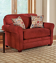 Lane® Sunburst Mulberry Twin Sleeper Sofa with iRest Gel-Infused Foam Mattress
