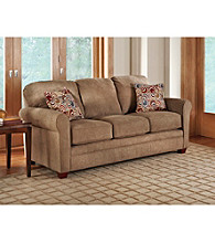 Lane® Sunburst Truffle Queen Sleeper Sofa with iRest Gel-Infused Foam Mattress
