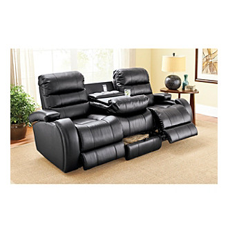 Lane Prime Black Power Reclining Sofa