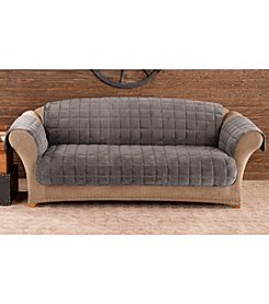 Sure Fit® Deluxe Dark Grey Pet Comfort  Loveseat and Sofa Cover