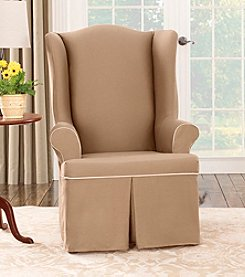 Sure Fit® CVC Duck Wing Chair Cover
