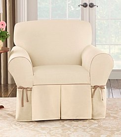 Sure Fit® CVC Duck 1-pc. Chair Slipcover