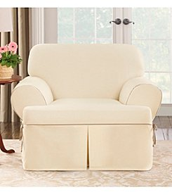 Sure Fit® CVC Duck 1-pc. T-Cushion Chair Slipcover