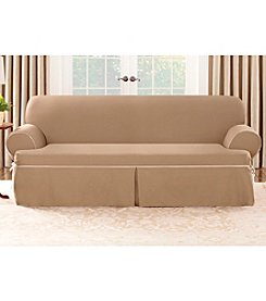 Sure Fit® CVC Duck 1-pc. T-Cushion Loveseat and Sofa Slipcover