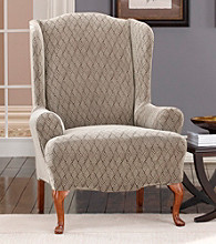 Sure Fit® Stretch Braid Wing Chair Cover