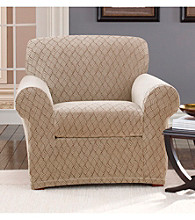 Sure Fit® Stretch Braid 2-pc. Chair Slipcover