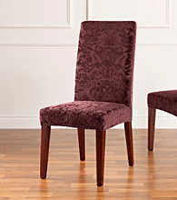 Sure Fit® Stretch Jacquard Damask Short Dining Room Chair Slipcover