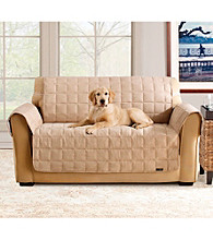 Sure Fit® Soft Suede Waterproof Loveseat and Sofa Throw Cover