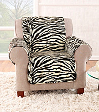Sure Fit® Velvet Zebra Quilted Quik Chair Pet Cover