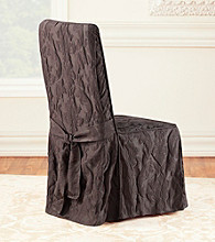 Sure Fit® Matelasse Damask Dining Room Chair Cover