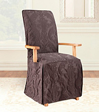 Sure Fit® Matelasse Damask Dining Room Chair Cover with Arms