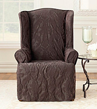 Sure Fit® Matelasse Damask Wing Chair Slipcover