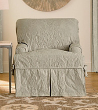 Sure Fit® Matelasse Damask 1-pc. T-Cushion Chair Slipcover