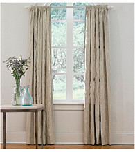 Sure Fit® Matelasse Damask Pole Top Drapes