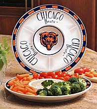 Memory Company Gameday NFL Chicago Bears Ceramic Chip and Dip Tray