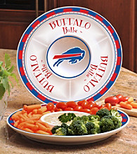 Memory Company Gameday NFL Buffalo Bills Ceramic Chip and Dip Tray