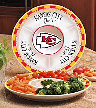 Memory Company Gameday NFL Kansas City Chiefs Ceramic Chip and Dip Tray