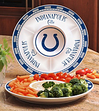 Memory Company Gameday NFL Indianapolis Colts Ceramic Chip and Dip Tray