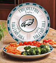 Memory Company Gameday NFL Philadelphia Eagles Ceramic Chip and Dip Tray
