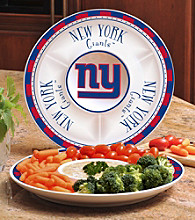 Memory Company Gameday NFL New York Giants Ceramic Chip and Dip Tray