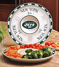 Memory Company Gameday NFL New York Jets Ceramic Chip and Dip Tray