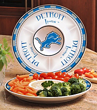 Memory Company Gameday NFL Detroit Lions Ceramic Chip and Dip Tray