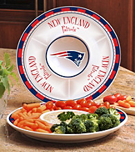 Memory Company Gameday NFL New England Patriots Ceramic Chip and Dip Tray