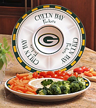 Memory Company Gameday NFL Green Bay Packers Ceramic Chip and Dip Tray