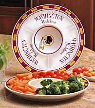 Memory Company Gameday NFL Washington Redskins Ceramic Chip and Dip Tray