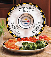 Memory Company Gameday NFL Pittsburgh Steelers Ceramic Chip and Dip Tray