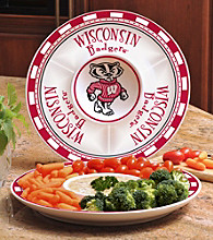 Memory Company Gameday NCAA University of Wisconsin Ceramic Chip and Dip Tray