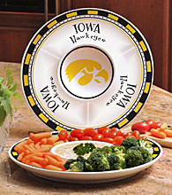 Memory Company Gameday NCAA University of Iowa Ceramic Chip and Dip Tray