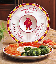 Memory Company Gameday NCAA Iowa State University Ceramic Chip and Dip Tray