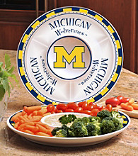 Memory Company Gameday NCAA University of Michigan Ceramic Chip and Dip Tray
