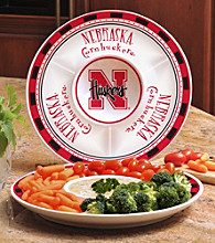 Memory Company Gameday NCAA University of Nebraksa Ceramic Chip and Dip Tray