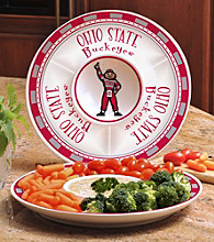 Memory Company Gameday NCAA Ohio State Ceramic Chip and Dip Tray