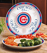 Memory Company Gameday MLB Chicago Cubs Ceramic Chip and Dip Tray