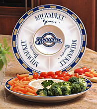 Memory Company Gameday MLB Milwaukee Brewers Ceramic Chip and Dip Tray