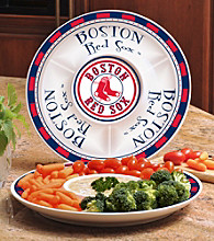 Memory Company Gameday MLB Boston Red Sox Ceramic Chip and Dip Tray