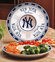 Memory Company Gameday MLB New York Yankees Ceramic Chip and Dip Tray