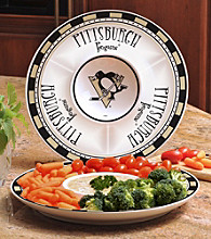 Memory Company Gameday NHL Pittsburgh Penquins Ceramic Chip and Dip Tray