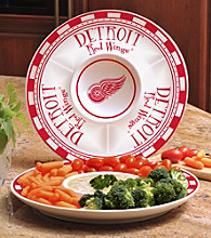 Memory Company Gameday NHL Detroit Red Wings Ceramic Chip and Dip Tray