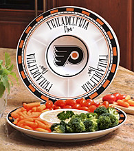 Memory Company Gameday NHL Philadelphia Flyers Ceramic Chip and Dip Tray