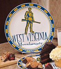 Memory Company Gameday NCAA West Virginia University Ceramic Plate