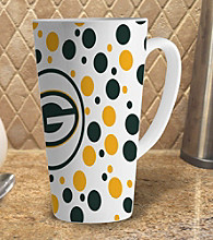 Memory Company Gameday NFL Green Bay Packers 16-oz. Polka Dot Latte Mug