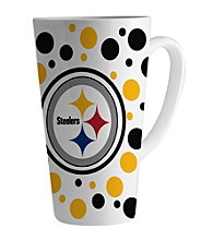 Memory Company Gameday NFL Pittsburch Steelers 16-oz. Polka Dot Latte Mug
