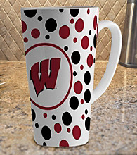 Memory Company Gameday NCAA University of Wisconsin 16-oz. Polka Dot Latte Mug-